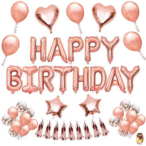(Ballons Geburtstag, Joylink 50pcs Ballon Hochzeit Deko Buchstaben Ballons Helium Geeignet für Mädchen Freundin Tochter)