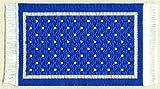 Miniatur Teppich, reines Polyester für Krippe, Puppenhaus Wendeteppich blau.