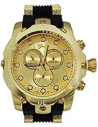 Oro grande de metal de ginebra novio funda moda deporte reloj para hombre