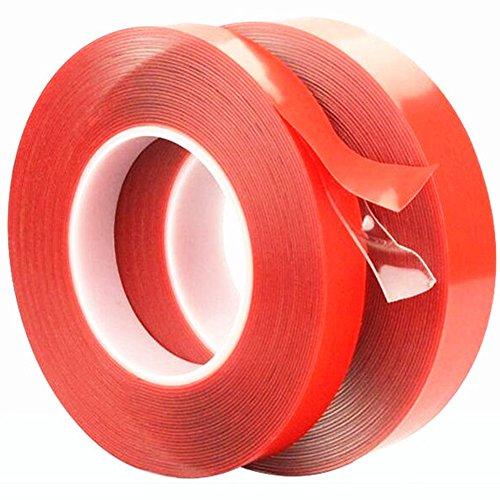 starker Acrylkleber HAUSTIER Roter Film löschen Doppeltes Seitenband keine Spur für Telefon Tablette LCD Bildschirm Auto Glas (Film-tablette)
