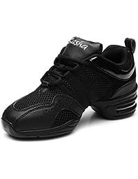 HIPPOSEUS Zapatos modernos de la danza del jazz/zapatillas de deporte/zapatos elegantes de la danza para las señoras de las mujeres,Modelo ESB5