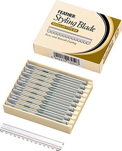 Feather 13365 Styling Blade regular type ex, 10 Stück, 1er Pack, (1x 10 Stück) (Feather Razor 10 Blades)