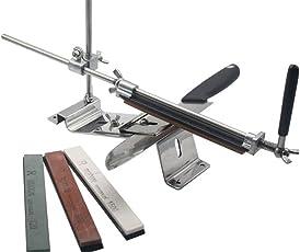 LQZ Professional Kitchen Sharpening Stone Scissor Knife Blade Sharpener with 4 Stone