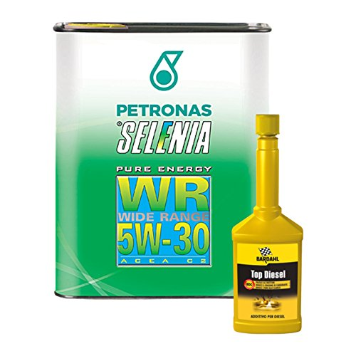 Kit 3 litri olio auto Selenia WR 5W30 + additivo pulizia Bardahl Top Diesel
