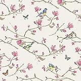 Holden Décor Kira de pájaro diseño de mariposas flores de flores, papel pintado