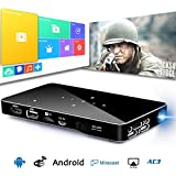"""DLP Wireless Mini Projector, USB HDMI & WiFi Wireless Connectivity, 1080P TF Card Support Portable Size & 30~120"""" Display Keystone Correction For IPhone Android Mac, Home Office Business Outdoor Use"""