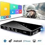 DLP Mini Projektor, USB HDMI & Wifi Wireless-Konnektivität, 1080P TF-Karte Unterstützung Portable 30 ~ 120