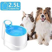 Iseebiz Fuente Gatos/Perros, Bebedero Automatico para Mascota con Gran Capacidad de 2.5litro
