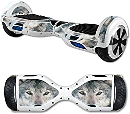 MightySkins Protective Vinyl Skin Decal for Hover Board Self Balancing Scooter Mini 2 Wheel x1 Razor wrap Cover Sticker Wolf