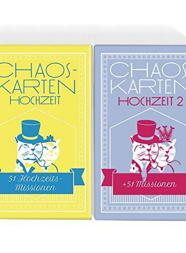 Chaoskarten Hochzeitsspiel - Editionen 1 + 2 = 102 Missionen