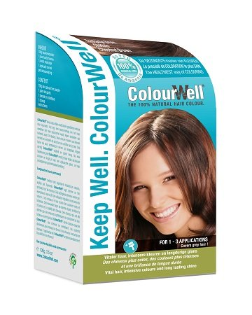ColourWell 100% natürliche Haarfarbe (Kastanien Braun)