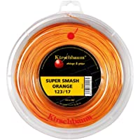 Kirschbaum Super Smash Rollo de Cuerdas, Unisex, Super Smash, Naranja, 1.23 mm