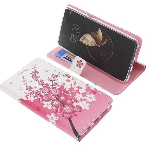 foto-kontor Tasche für Archos Diamond Gamma Book Style Lila Blüte Schutz Hülle Buch