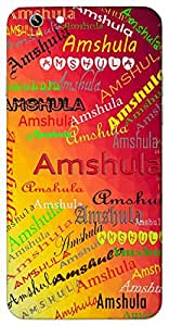 Amshula (Popular Girl Name) Name & Sign Printed All over customize & Personalized!! Protective back cover for your Smart Phone : Micromax CanvasHue2A316