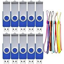 FEBNISCTE 10 piezas 8GB Memoria USB Azul Pen Drive USB 2.0 Regalo