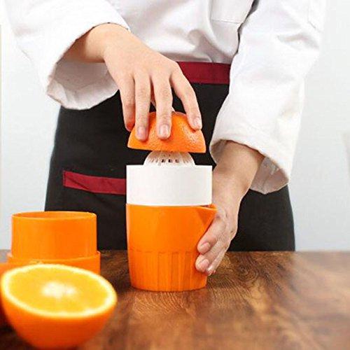 Bluzon Manual & Citrus Plastic Hand Juicer (Orange Color)
