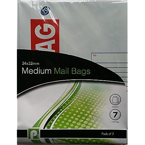 14tamaño mediano bolsas de correo/2paquetes de 7