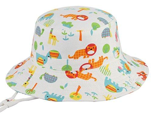 r Fischerhut Strandhut Sommerhut Sonnenschutz Kappe Mütze (Elefant, Hut Umfang 52cm) (Mädchen Weiße Sonne Kleider)