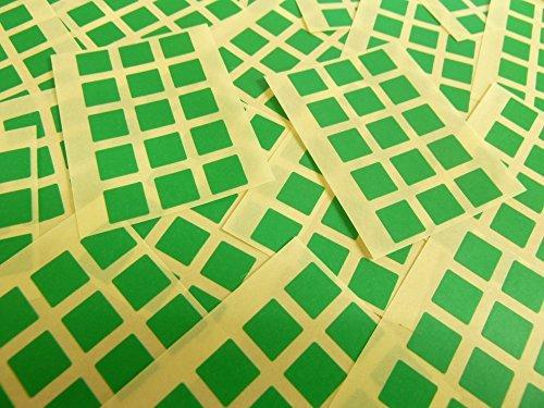Pequeño 10mm Cuadrado Verde Medio Código De Color Adhesivos, 150 auta-Adhesivo Cuadrados adhesivo Etiquetas De Colores