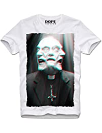 DOPEHOUSE MAGLIETTA T-Shirt PRIEST REVERAND HORROR ZOMBIE APOCALYPSE TRIPPY LSD MDMA HIPSTER