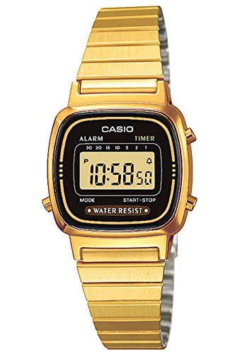 Analog Casio Uhr Gold (Casio Collection Damen Retro Armbanduhr LA670WEGA-1EF)