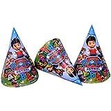 Partysanthe Hat/Party Cap for Kids Paw Pet /rol Hat Design 10 Pcs/Birthday Theme/Party Theme