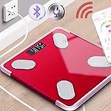 XF Bilance pesapersona digitali Bilancia per grasso corporeo - Smart Bluetooth modello di ricarica Bilancia elettronica di precisione piccola scala di perdita di peso per adulti scala di grasso maschi