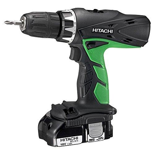 Hitachi 93122826 Taladro percutor Li-ion 1,5 Ah, 1 W, 18 V, Verde y negro, 0