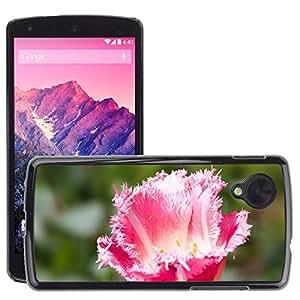 Carcasa Funda Prima Delgada SLIM Casa Case Bandera Cover Shell para // M00310385 Tulip Liliacee naturale Fiore // LG Nexus 5