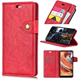 HTC U12 Life Case, HTC U12 Life Cover Thin Flip Cover Case Skins Pouch Phone Case Compatible With HTC U12 Life By Danallc (Red)