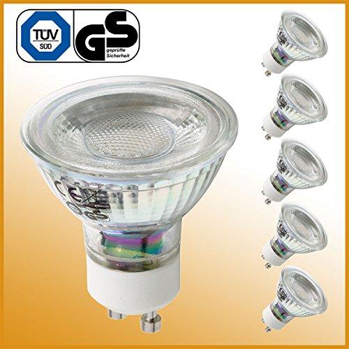 LED Lampe GU10 5 Watt ersetzt 50 Watt Halogen warmweiß 5er Set LED Leuchtmittel Energiesparlampe Glühbirne LED Glühlampe LED Birne