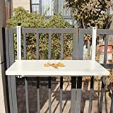 Ailjcz ailj Hängender Tisch, Hängetisch Für Balkongeländer, Faltbarer Hängenden Tisch Im Freien, Home Bartisch, Hängender Schreibtisch (größe : 77 * 40cm)