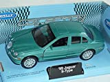 Welly Jaguar S-type Hell GrÜn 1999-2007 Limousine Ca 1/43 1/36-1/46 Modellauto Modell Auto