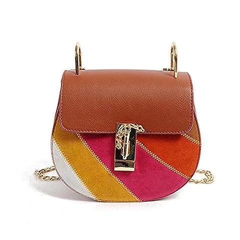 Mode Hobo Handtaschen Trachtentasche Kette Schultertasche Regenbogen (Farbe)
