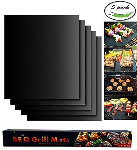 Assiette Veggie - BBQ Grill Mat, 5 Pack Non Stick