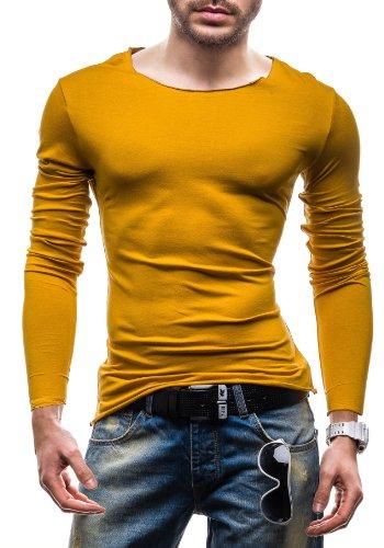 STEGOL Longsleeve T-Shirt Langarm Shirt Sweatshirt Pullover Pulli 546 Gelb