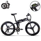 eBike_RICHBIT RLH-860 bicicleta eléctrica bicicleta de montaña plegable MTB e bicicleta 36V * 250W 12.8Ah litio - batería de hierro 26inch rueda integrada de magnesio (gris
