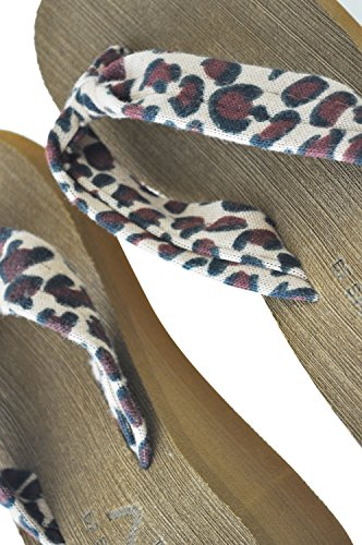 TOOGOO(R) Sandali donna Sandali Scarpe da donna Scarpe da donna Sandali donna Sandali Scarpe con tacco alto Sandali da spiaggia dimensioni 5 leopardo leopardo