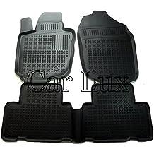 Car Lux AR01476 - Alfombras Alfombrillas de goma tipo cubeta 3D borde alto para RAV4