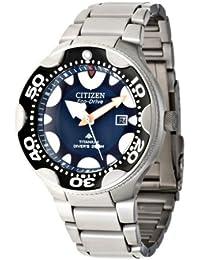 Citizen BN0016-55L - Reloj analógico de cuarzo para hombre con correa de titanio, color negro