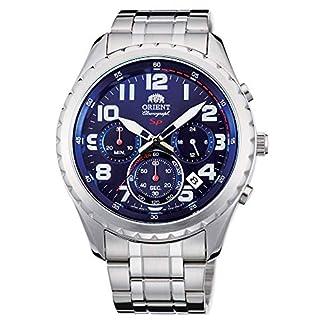 Orient Reloj Cronógrafo para Hombre de Cuarzo con Correa en Acero Inoxidable FKV01002D0
