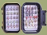 Tungsten Bead Forelle Fliegen, Nymphs, 40pro Box Set, gemischt Größe für Fliegenfischen
