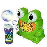 Veryeah bambini bambini Bubble Blowing Machine Blower automatica rana forma regalo festa di compleanno