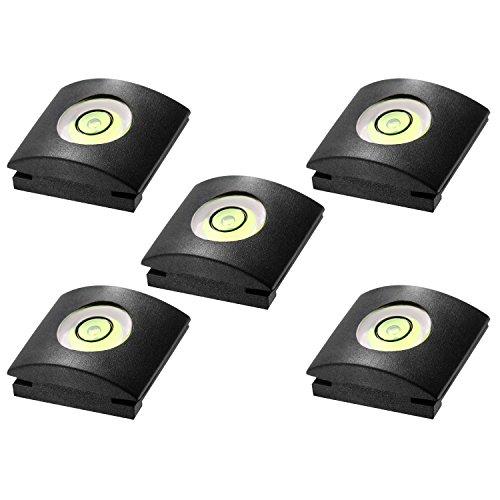 Neewer® 5x Kamera Taschenlampe Blitzschuhabdeckung mit Wasserwaage für Canon, Nikon, Panasonic, Fujifilm, Olympus, Pentax, Sigma, DSLR/SLR/EVIL Kamera