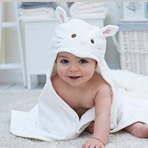 Bain Lapins Snowdrop Chaton bébé Serviette de bain à
