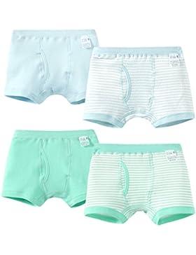 Happy Cherry - Junto de 4 Pantalones Interiores de Niños con Cintura Elástica de Algodón Transpirable Bóxer para...