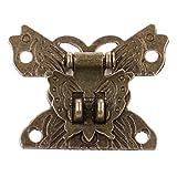 Sharplace Antike Schmetterling Schatullenverschluß Schatullenschloß Kastenverschluss