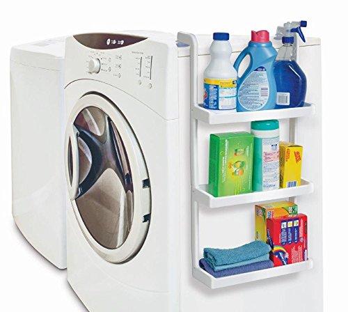 Hänge-Regal Für Waschmaschine Oder Kühlschrank Mit Saugnäpfen Platzsparend Weiß Kunststoff