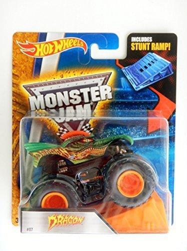 Hot Wheels 2016 Monster Jam Dragon #07 Monster Truck includes Stunt Ramp