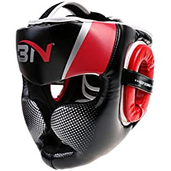 Gazechimp Casco de Boxeo de Desmontable Accesorio de Protecciones de Artes Marciales MMA Gear Protector de Ajustable - Rojo